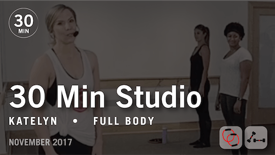 Instant Access to 30 Min Studio with Katelyn: Full Body  |  November 2017 by Pure Barre On Demand, powered by Intelivideo