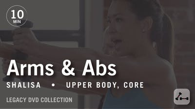 Instant Access to Tone in 10 with Shalisa: Arms & Abs  |  Legacy DVD Collection by Pure Barre On Demand, powered by Intelivideo