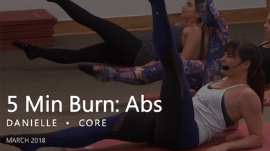 5 Min Burn: Abs  |  March by Pure Barre On Demand