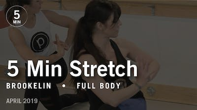 Instant Access to 5 Min Stretch with Brookelin: Full Body  |  April 2019 by Pure Barre On Demand, powered by Intelivideo