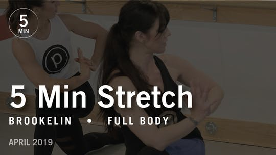 5 Min Stretch with Brookelin: Full Body  |  April 2019 by Pure Barre On Demand