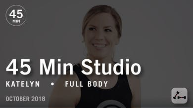 45 Min Studio with Katelyn: Full Body  |  October 2018 by Pure Barre On Demand