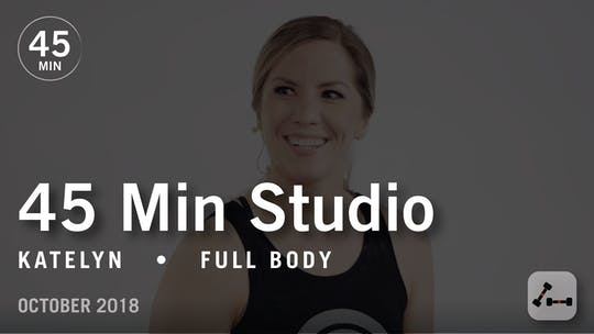 Instant Access to 45 Min Studio with Katelyn: Full Body  |  October 2018 by Pure Barre On Demand, powered by Intelivideo