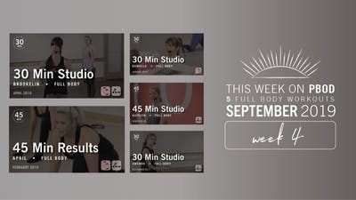 September 2019 | Week 4 by Pure Barre On Demand