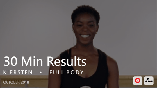 Instant Access to 30 Min Results with Kiersten: Full Body  |  October 2018 by Pure Barre On Demand, powered by Intelivideo