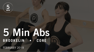 5 Min Abs with Brookelin: Core  |  February 2019 by Pure Barre On Demand