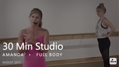 30 Min Studio with Amanda  |  August by Pure Barre On Demand