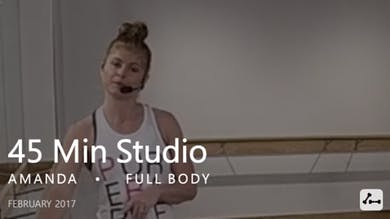 45 Min Studio with Amanda  |  February by Pure Barre On Demand