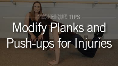 Technique Tips: Modify Planks & Push-ups for Injury by Pure Barre On Demand