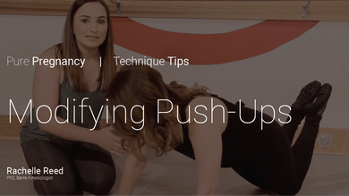 Pregnancy Technique Tips: Modifying Push-Ups by Pure Barre On Demand