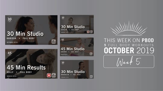 October 2019 | Week 5 by Pure Barre On Demand