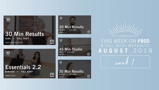 August 2019 | Week 1 by Pure Barre On Demand