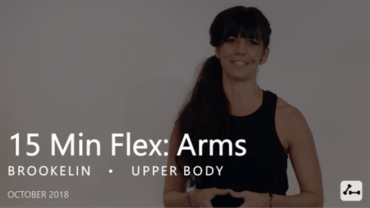 Instant Access to 15 Min Flex: Arms  |  October by Pure Barre On Demand, powered by Intelivideo
