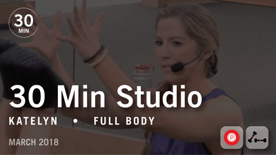 Instant Access to 30 Min Studio with Katelyn: Full Body  |  March 2018 by Pure Barre On Demand, powered by Intelivideo