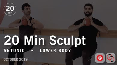 20 Min Sculpt with Antonio | October 2019 by Pure Barre On Demand