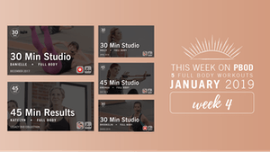 Instant Access to January 2019  |  Week 4 by Pure Barre On Demand, powered by Intelivideo