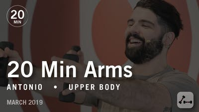 Instant Access to 20 Min Intensive with Antonio: Arms  |  March 2019 by Pure Barre On Demand, powered by Intelivideo