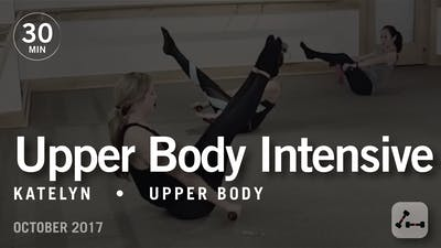 Instant Access to 30 Min Intensive with Katelyn: Upper Body  |  October 2017 by Pure Barre On Demand, powered by Intelivideo