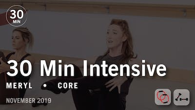 30 Min Intensive with Meryl | November 2019 by Pure Barre On Demand