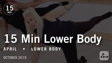 15 Min Lower Body with April | October 2019 by Pure Barre On Demand