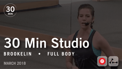 30 Min Studio with Brookelin: Full Body  |  March 2018 by Pure Barre On Demand