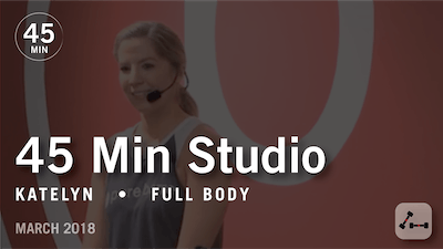 45 Min Studio with Katelyn: Full Body  |  March 2018 by Pure Barre On Demand