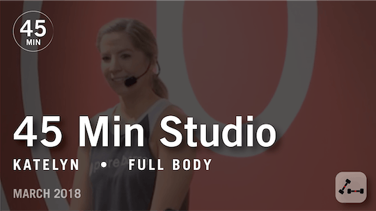 Instant Access to 45 Min Studio with Katelyn: Full Body  |  March 2018 by Pure Barre On Demand, powered by Intelivideo