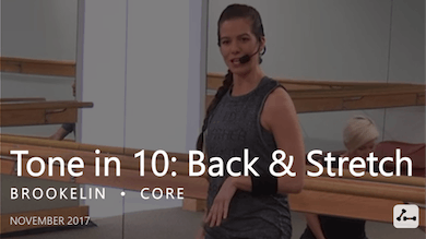 Tone in 10: Back & Stretch  |  November by Pure Barre On Demand