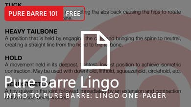 Intro to Pure Barre: Lingo One-Pager by Pure Barre On Demand