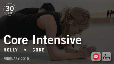 Instant Access to 30 Min Intensive with Holly: Core  |  February 2019 by Pure Barre On Demand, powered by Intelivideo