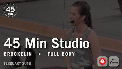 45 Min Studio with Brookelin: Full Body  |  February 2018 by Pure Barre On Demand