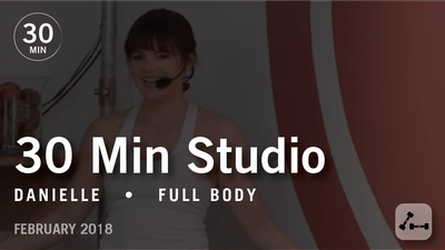 Instant Access to 30 Min Studio with Danielle: Full Body  |  February 2018 by Pure Barre On Demand, powered by Intelivideo