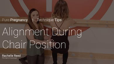 Pregnancy Technique Tips: Alignment During Chair Position by Pure Barre On Demand