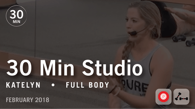 30 Min Studio with Katelyn: Full Body  |  February 2018 by Pure Barre On Demand