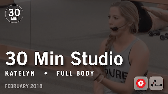 Instant Access to 30 Min Studio with Katelyn: Full Body  |  February 2018 by Pure Barre On Demand, powered by Intelivideo