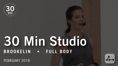 30 Min Studio with Brookelin: Full Body  |  February 2018 by Pure Barre On Demand
