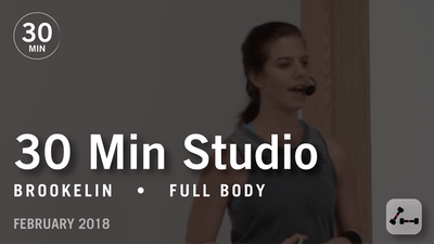 Instant Access to 30 Min Studio with Brookelin: Full Body  |  February 2018 by Pure Barre On Demand, powered by Intelivideo
