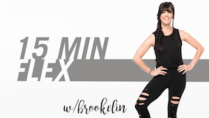 Instant Access to 15 Min Flex with Brookelin by Pure Barre On Demand, powered by Intelivideo
