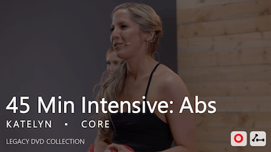 45 Min Intensive with Katelyn  |  Abs by Pure Barre On Demand