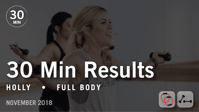 30 Min Results with Holly: Full Body  |  November 2018 by Pure Barre On Demand