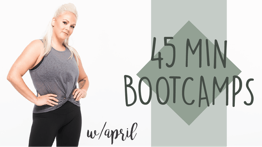 45 Min Bootcamps with April by Pure Barre On Demand, powered by Intelivideo