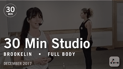 Instant Access to 30 Min Studio with Brookelin: Full Body  |  December 2017 by Pure Barre On Demand, powered by Intelivideo