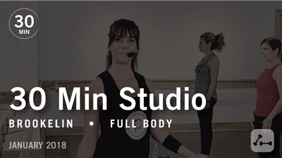 Instant Access to 30 Min Studio with Brookelin: Full Body  |  January 2018 by Pure Barre On Demand, powered by Intelivideo