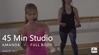 45 Min Studio with Amanda  |  August by Pure Barre On Demand