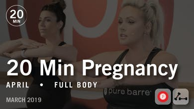 20 Min Pregnancy with April #1: Full Body | March 2019 by Pure Barre On Demand