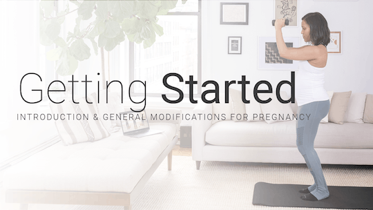 Getting Started with Pure Pregnancy by Pure Barre On Demand, powered by Intelivideo