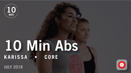 Instant Access to Tone in 10 with Karissa: Abs  |  July 2018 by Pure Barre On Demand, powered by Intelivideo
