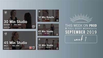 September 2019 | Week 1 by Pure Barre On Demand