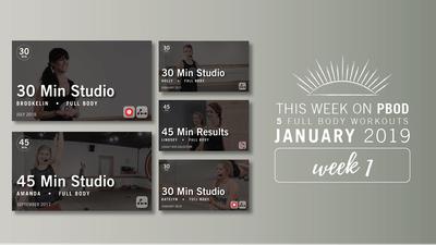 January 2019  |  Week 1 by Pure Barre On Demand