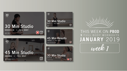 January 2019  |  Week 1 by Pure Barre On Demand, powered by Intelivideo